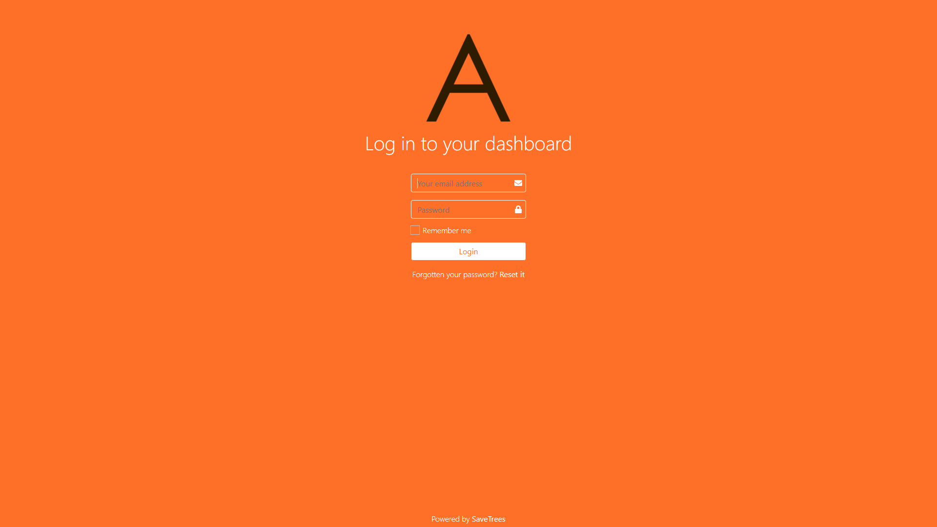 Bespoke Login Page Screenshot
