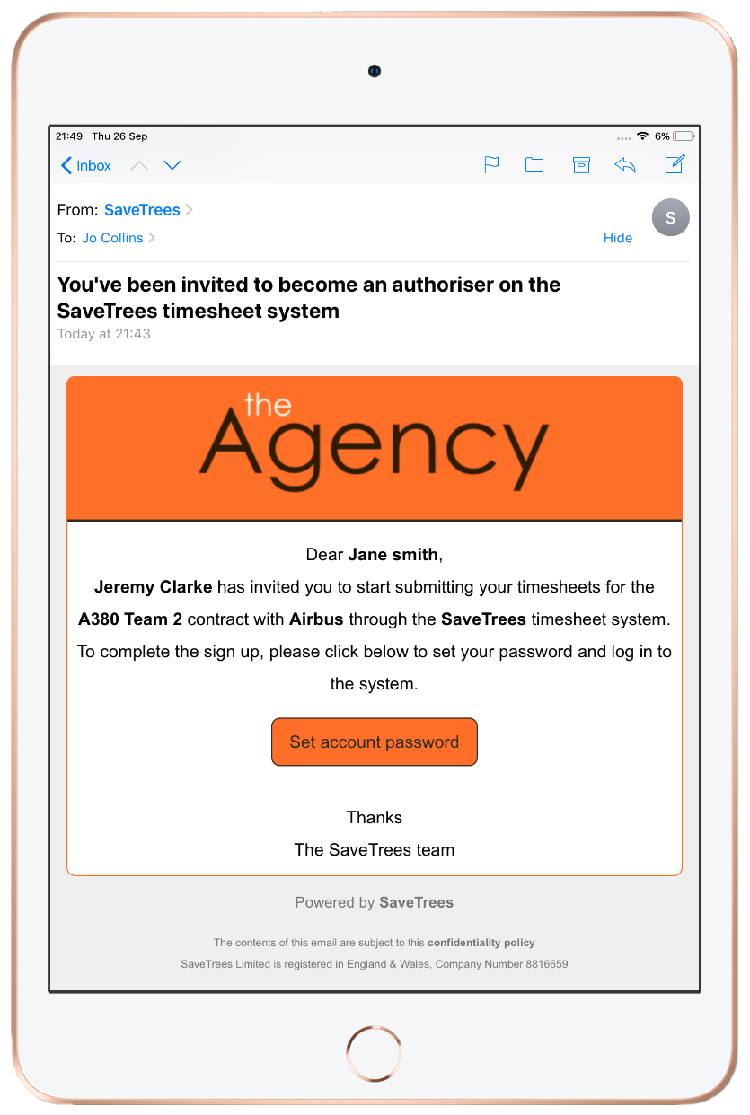 Agency branded email 2