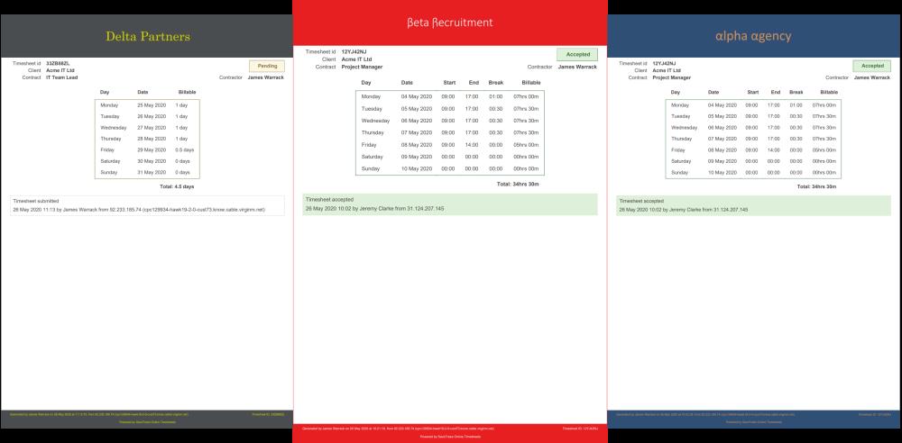 PDF Timesheets
